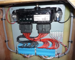 The latest digital switching replaces the traditional circuit breaker board and long wiring looms around the boat.