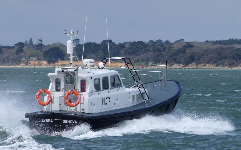 Seaward Boats - Copyright Free for Editorial Use Photo Credit: Seaward Boats *** Seaward Nelson 40 Pilot Boat LYBRA, the first of two built by Seaward Boats in Cowes UK for the Genoa Pilot service in Italy, undergoing sea trials in the Solent.